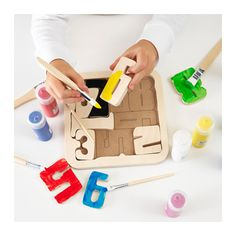 PYSSLA Puzzle, numbers, plywood numbers/plywood -