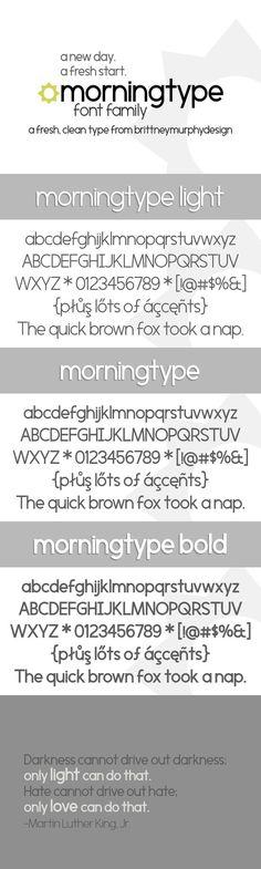 Morningtype. Fonts. $10.00