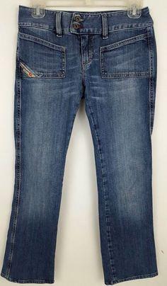 fe41036d193 Diesel Hush DS Women's Bootcut Low Rise Jeans Size 26 #Diesel  #BootCutStraightLeg Diesel,