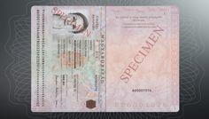 Modelo de passaporte húngaro interno.
