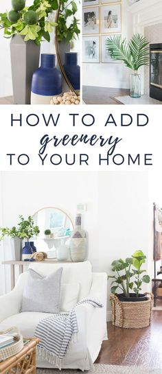 How to add greenery to your home. Tips for adding splashes of color to your home using real and fake plants! #ad