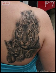 Tiger cubs tattoo--would like this better in color