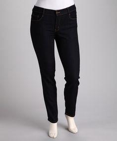Loving this Dark Blue Skinny Jeans - Plus on #zulily! #zulilyfinds