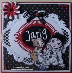 Kaarten van Kitty Marianne Design, Annie, Diy And Crafts, Minnie Mouse, Happy Birthday, Instagram, Children, Creative, Happy Brithday