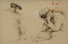 The Next Move, graphite by Andre Kohn