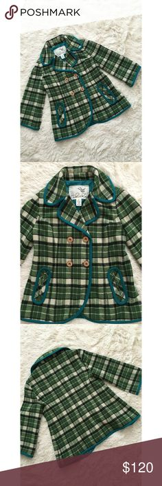 ✨Anthro Tabitha Coat✨ This gem by Tabitha is a timeless beauty. The piped plaid coat is perfect for colder months. Warm up your closet with this cozy yet stylish piece. Size M EUC Anthropologie Jackets & Coats