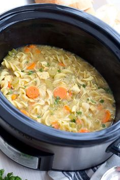 Freezer To Crockpot Low Fat All Natural Chicken Noodle Soup Panera Copycat