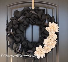 Excited to share this item from my shop: Large Black Wreath, Large Rustic Wreath, Unique Front Unique Front Doors, Front Door Decor, Wreaths For Front Door, Door Wreaths, Jute, Decor Around Tv, Black Wreath, Year Round Wreath, Unique Home Decor