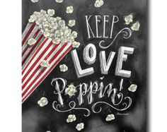 Popcorn Bar, Wedding Popcorn Bar, Popcorn Bar Sign, Chalkboard Art, Chalk Art, Rustic Wedding, Chalkboard Sign