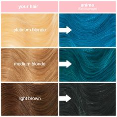 Anime Unicorn Hair Dye Neon Blue Hair Color Unicorn Hair Witch Hair Anime Hair Color