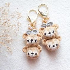 Crochet Bear here there are lovely bear duffy and shellie may available for order contact us for more detailss✨ - Kawaii Crochet, Crochet Bear, Love Crochet, Crochet Gifts, Learn To Crochet, Diy Crochet, Crochet Dolls, Crochet Baby Cardigan, Amigurumi Patterns