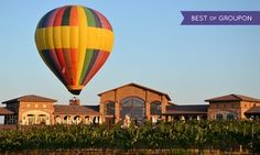 Groupon - 1- or 2-Night Stay for Two in Deluxe Suite with a Balloon Flight from Tuscany Hills Resort in Escondido, CA in Escondido, CA. Groupon deal price: $319