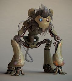 robot monkey steampunk - Google Search                                                                                                                                                                                 Más