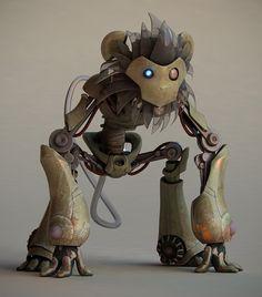 robot monkey steampunk - Google Search