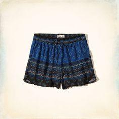 Girls Pattern Pom Pom Drapey Shorts | Girls Bottoms | HollisterCo.com