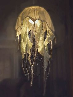 fiber optic jellyfish lamp