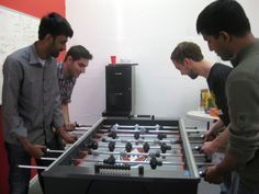 At Pinterest, you can hold a meeting over a game of foosball. Aside from being fun, play can help free up creative juices and help people break out of mental ruts.