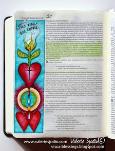 visual blessings: Everything has Become New - Bible Art Journaling