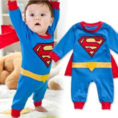 Superman Baby Kid Toddler Boy Bodysuit Romper Jumpsuit Outfit One-Piece Costume Superman Baby Kid Toddler Boy Bodysuit Romper Jumpsuit Outfit One-Piece Costume Superman Baby, Bebe Superman, Superman Suit, Clark Superman, Baby Boy Romper, Baby Boy Newborn, Baby Bodysuit, Baby Boys, Baby Dress