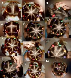 From ponytails to a crown - sukuosena Girls Hairdos, Cute Little Girl Hairstyles, Baby Girl Hairstyles, Princess Hairstyles, Cute Hairstyles, Braided Hairstyles, Birthday Hairstyles, Gymnastics Hair, Braids For Kids