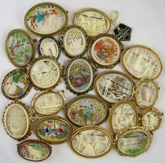 Another great shot of collector's French Celluloid brooches! Check out her webpage! Vintage Costume Jewelry, Vintage Costumes, Vintage Jewelry, Great Shots, Dream Catcher, Workshop, Brooches, French, Antiques