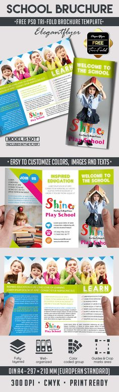 Travel Tri-Fold Brochure u2013 Free PSD Template    www - school brochure template