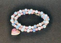Double Wrap Beaded Bracelet Double Loop of Alternate by girasole, $19.00