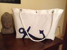 Large Sailcloth Tote by IDEKORATE on Etsy
