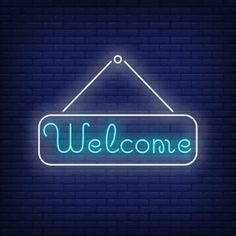 Welcome neon lettering on tablet. Neon Wall Signs, Neon Signs Quotes, Neon Signs Home, Neon Light Signs, Led Neon Signs, Neon Aesthetic, Quote Aesthetic, Neon Design, Logo Design