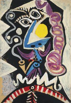 Pablo Picasso TÊTE D'HOMME À LA PIPE 4,000,000 — 6,000,000 USD LOT SOLD. 4,421,000 USD