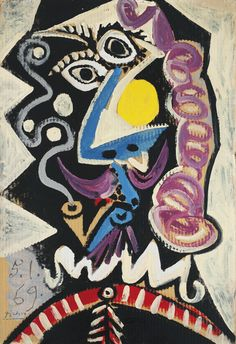 Pablo Picasso TÊTE D'HOMME À LA PIPE 4,000,000 — 6,000,000 USD LOT SOLD. 4,421,000 USD