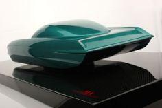 Lamborghini 350 GTV in Metallic Green on Carbon Base (MR Collection 1:12 scale)
