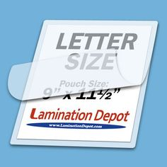 3 Mil Clear Letter Size Thermal Laminating Pouches 9 X 11.5 Qty 100 (UNV84622).    List Price:$41.69  Buy New:$8.16  You Save:80%  Deal by: ArtsandCraftsShoppers.com
