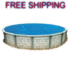 Swimming Pool Water Warmer Cover Outdoor 15-Feet Round 8-mil Solar Blanket Blue #BlueWave