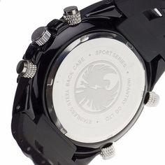 Originální INFANTRY Luxusní značkové analogové LED hodinky Mužské kaučukové  hodiny Quartz Hodiny pánské taktické chronografy Sportovní e9808b74bf4