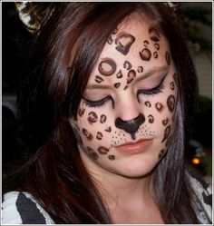 Halloween Makeup:  Leopard - Click image to find more Humor Pinterest pins