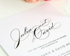 Wedding Invitation Suite  Vintage Glam Design  por ShineInvitations