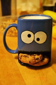cookie monster milk mug/cookie holder!