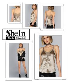 """Contest (shein)! - Win this coffee cami top!"" by amiraahmetovic ❤ liked on Polyvore featuring White Label"
