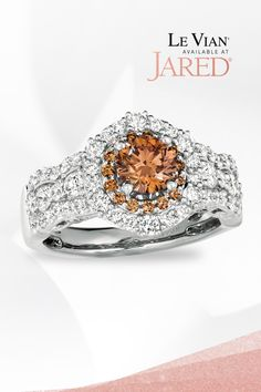 Pieces so cakey! This Le Vian ring is layered with luscious Chocolate Diamonds and haloed by irresistible Vanilla Diamonds. Who wants a bite? Diamond Stone, Diamond Clarity, Halo Diamond, Diamond Jewellery, Gemstone Jewelry, Platinum Metal, Le Vian, Black Rings, Colored Diamonds