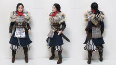 Hua Mulan, Made-to-Move Barbie custom doll by Dollightful