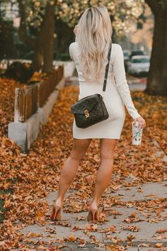 JavaScript is currently disabled in this browser. Reactivate it to view this content. Sexy Outfits, Sexy Dresses, Cute Dresses, White Sweater Dress, White Sweaters, Stockings Heels, Sexy Legs And Heels, Girl Fashion, Womens Fashion