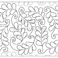 """Feathered Curls - Paper - 13.25"""" - Quilts Complete - Continuous Line Quilting Patterns"""