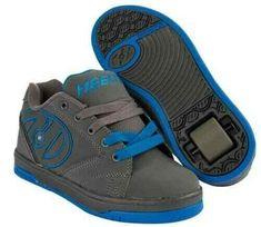 33a169a2a483 New Heelys Propel Grey   Royal Blue Junior Boys Girls Roller Skate Trainers