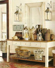 Lanterns and Sideboard