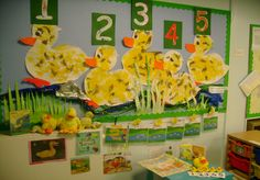 Five Little Ducks classroom display photo - Photo gallery - SparkleBox Nursery Rhyme Crafts, Nursery Rhyme Theme, Nursery Activities, Infant Activities, Nursery Rhymes, Maths Display, Class Displays, School Displays, Display Boards Nursery Baby