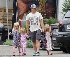 Luke Hemsworth stepped out in Malibu on Wednesday holding hands with his three little ladies