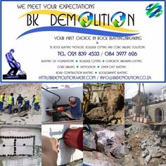 We at BK Demolition would like to update you on our provided services and our great product line