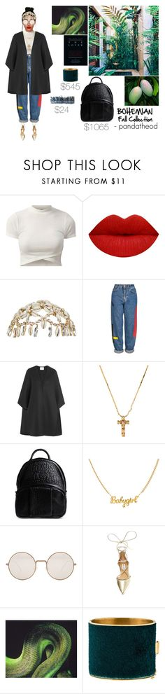 """BOHEMIAN Fall Collection"" by pandatheod ❤ liked on Polyvore featuring Wales Bonner, Topshop, Valentino, Alexander Wang, Illesteva, Steve Madden, Lanvin and CÉLINE"