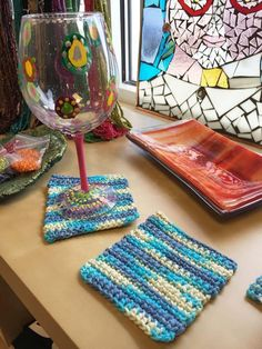 Looking for your next project? You're going to love Crocheted Tableware by designer dianelaugustin.